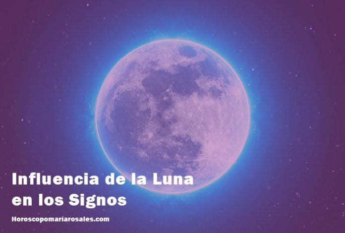 influencia de la luna en signos zodiacales