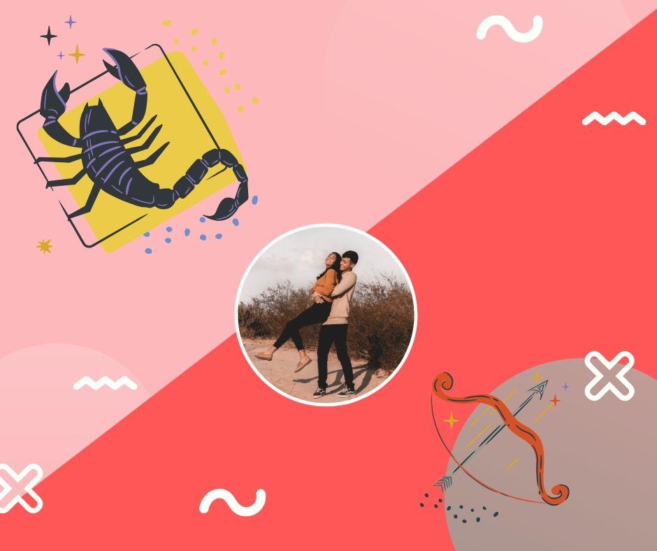 escorpio y sagitario en el amor